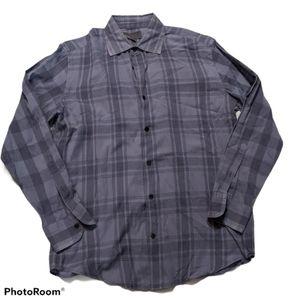 4/$25 Vince Dusty Blue Plaid Button Up, Men's S